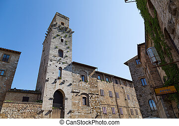 Typical Village of San Gimignano - Views of the typical...