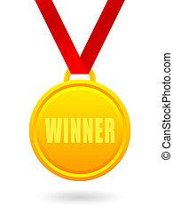 Winner golden medal