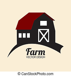 Farm design over beige background, vector illustration