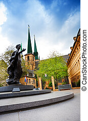 Statue of Grand Duchess Charlotte in Luxemburg - The statue...