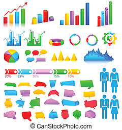 Business Graph - easy to edit vector illustration of...