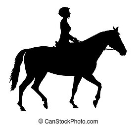 Horse racing - Vector illustration of horse and rider...
