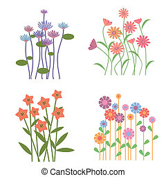 Colorful Retro Flower Collection