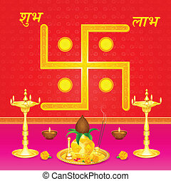 Indian festival background - easy to edit vector...