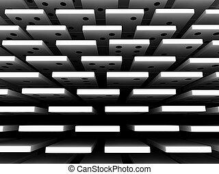 Domino - 3d render of white domino blocks over white...