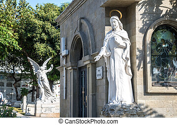Religious statues at a cemetery, Guayaquil, Ecuador