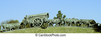 La Carreta Monument in the Batlle Park - The Monument to La...