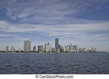Miami, Stadt,  Skyline, Tag,  panorama