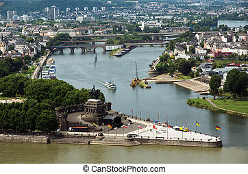 Koblenz - View from Koblenz town, Germany