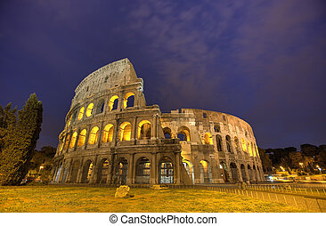 Colosseum in Rome, Italy during sunset