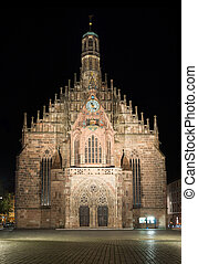 Frauenkirche - View of Frauenkirche church, Nuremberg,...