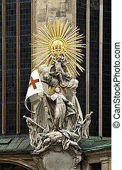 Statue of St Francis at Stephansdom, the St Stephans...