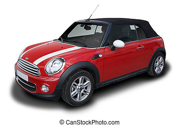 Mini Cooper - Red Mini Cooper Convertible car parked...
