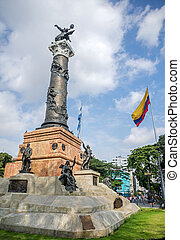 Independence monument in Guayaquil, Ecuador, on a sunny day