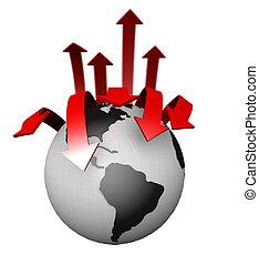 International Worldwide Business Concept - Globe surrounded...