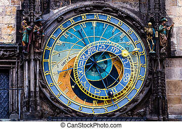 Detail of the Prague Astronomical Clock Orloj in the Old...