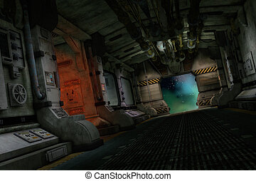 The Transporter Ship, 3d CG - 3d computer graphics of a...