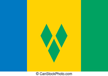 Saint Vincent and the Grenadines fl - Vector Saint Vincent...