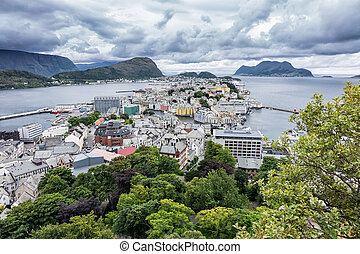 View to Ålesund in Norway.