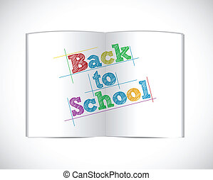 back to school open book illustration