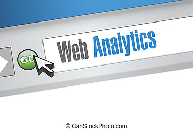 web analytics internet browser sign illustration