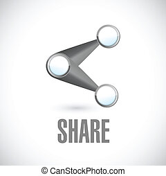 share icon illustration design over a white background