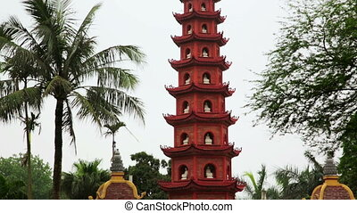Zoom and Pan, Hanoi, Vietnam, Tran Quoc Temple Pagoda
