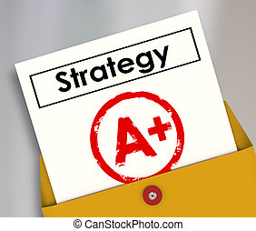 Strategy Document A Plus Grade Great Successful Plan Review...