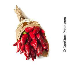 mazzo, fresco, piccolo, rosso, pepe