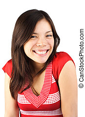 Young woman with cute smile
