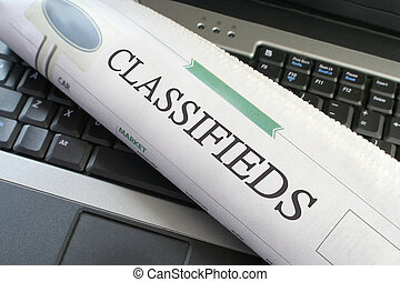Classified business laptop - Classified ads section of the...