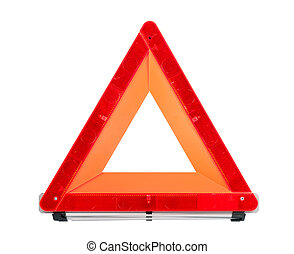 Red Emergency Sign - Car emergency sign isolated with...