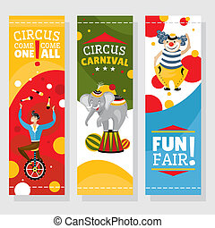 Funfair banners vector illustration