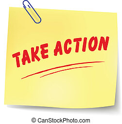 Vector take action message illustration - Vector...