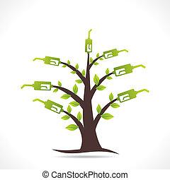 燃料, デザイン, 木, 緑, 創造的