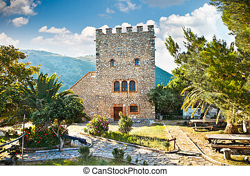 Ancient Baptistery at Butrint, Albania. - Tower of the...