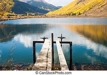 Crystal Lake Reflections - Reflections of Fall on mountain...