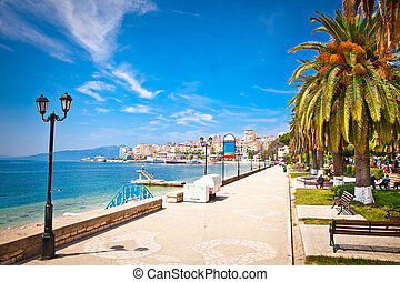 Promenade in Saranda, Albania - Main city promenade in...