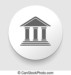 Bank building Icon on white background EPS10 illustration