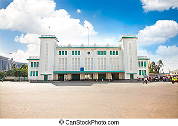 Train or Railway station, Pnom Penh, Cambodia - Train or...