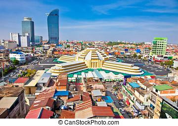 Modern architecture in Phnom Penh, Cambodia - PHNOM PENH,...