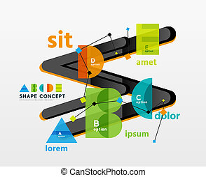 Business geometric infographic diagram layout