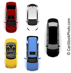 Collection of colorful cars - Collection of different...