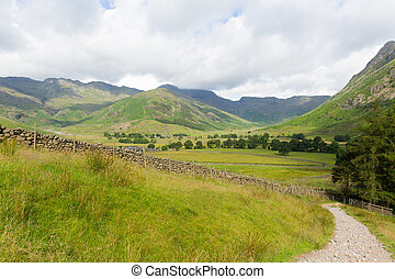 Langdale Valley walk to Blea Tarn - View of Langdale Valley...