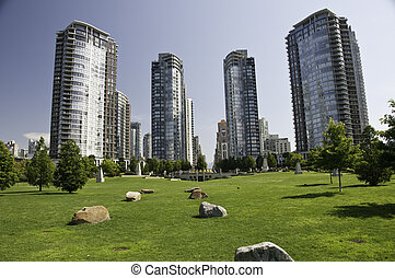Green space with in the dowtown highrise condos - Great...