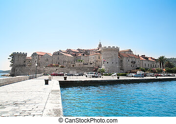 Fortified city of Korcula, Croatia - The fortified city of...