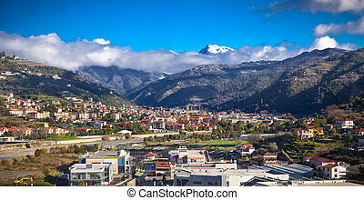Parco Naturale Regionale delle Alpi Liguri from Taggia. -...