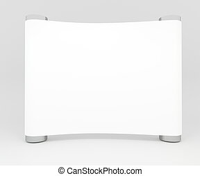 Blank trade show booth for design - Blank trade show white...