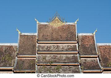 Roof of Haw Pha Bang in in Luang Prabang World Heritage,...
