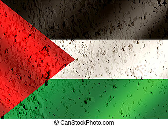 flag of Palestine Gaza Strip flag themes idea design on wall...